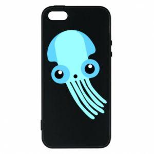 Etui na iPhone 5/5S/SE Cute blue jellyfish