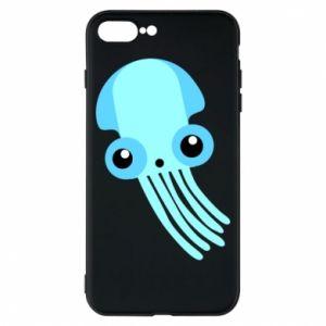 Etui na iPhone 8 Plus Cute blue jellyfish