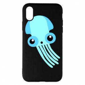 Etui na iPhone X/Xs Cute blue jellyfish