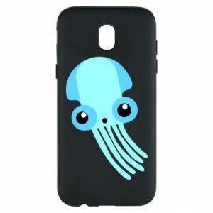 Etui na Samsung J5 2017 Cute blue jellyfish