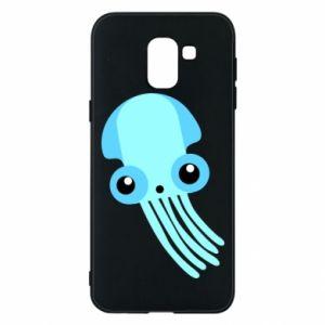 Etui na Samsung J6 Cute blue jellyfish