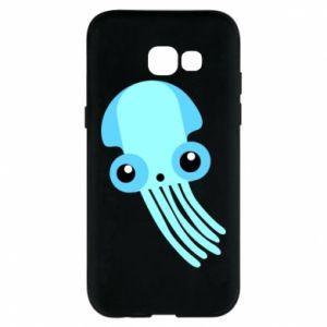 Etui na Samsung A5 2017 Cute blue jellyfish