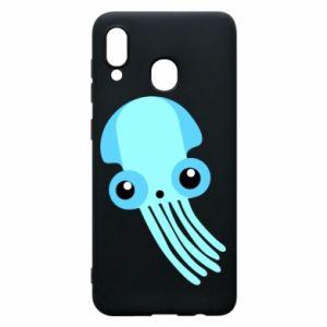 Etui na Samsung A30 Cute blue jellyfish