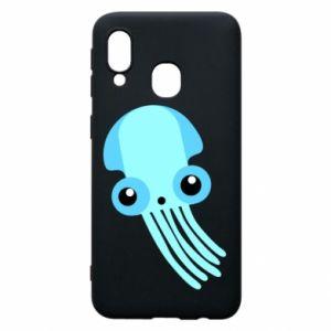 Etui na Samsung A40 Cute blue jellyfish