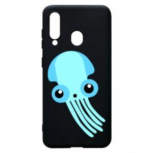 Etui na Samsung A60 Cute blue jellyfish