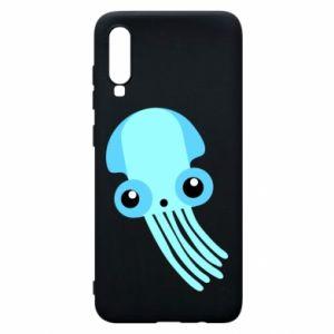 Etui na Samsung A70 Cute blue jellyfish