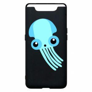 Etui na Samsung A80 Cute blue jellyfish