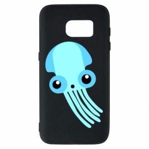 Etui na Samsung S7 Cute blue jellyfish