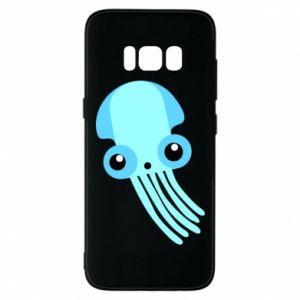 Etui na Samsung S8 Cute blue jellyfish