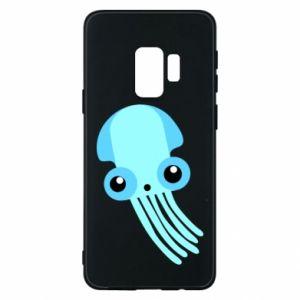 Etui na Samsung S9 Cute blue jellyfish