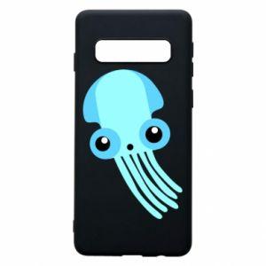 Etui na Samsung S10 Cute blue jellyfish