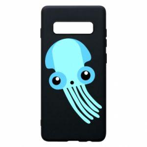 Etui na Samsung S10+ Cute blue jellyfish
