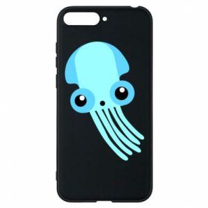 Etui na Huawei Y6 2018 Cute blue jellyfish
