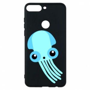 Etui na Huawei Y7 Prime 2018 Cute blue jellyfish