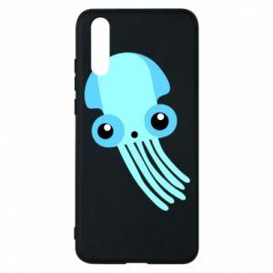 Etui na Huawei P20 Cute blue jellyfish