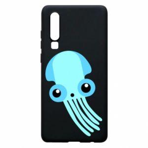 Etui na Huawei P30 Cute blue jellyfish