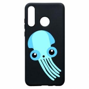 Etui na Huawei P30 Lite Cute blue jellyfish