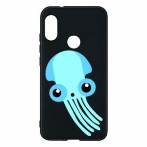 Etui na Mi A2 Lite Cute blue jellyfish