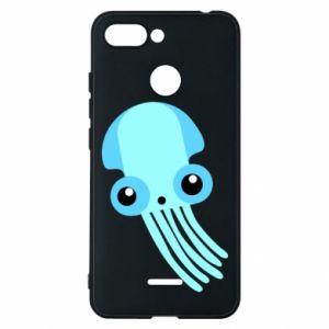 Etui na Xiaomi Redmi 6 Cute blue jellyfish