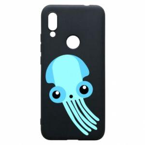 Etui na Xiaomi Redmi 7 Cute blue jellyfish