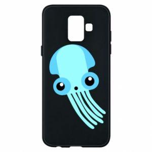 Etui na Samsung A6 2018 Cute blue jellyfish