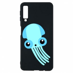Etui na Samsung A7 2018 Cute blue jellyfish
