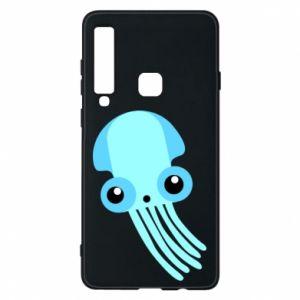 Etui na Samsung A9 2018 Cute blue jellyfish