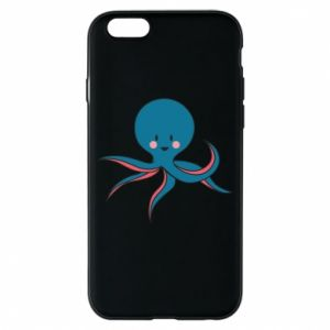 Phone case for iPhone 6/6S Cute blue octopus with a smile - PrintSalon