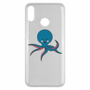 Etui na Huawei Y9 2019 Cute blue octopus with a smile