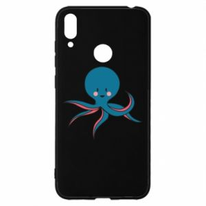 Etui na Huawei Y7 2019 Cute blue octopus with a smile