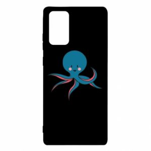 Etui na Samsung Note 20 Cute blue octopus with a smile