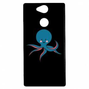 Etui na Sony Xperia XA2 Cute blue octopus with a smile