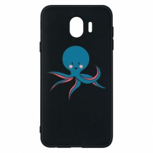 Phone case for Samsung J4 Cute blue octopus with a smile - PrintSalon