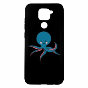 Etui na Xiaomi Redmi Note 9/Redmi 10X Cute blue octopus with a smile