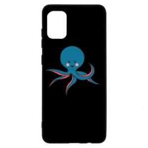 Etui na Samsung A31 Cute blue octopus with a smile