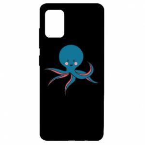 Etui na Samsung A51 Cute blue octopus with a smile
