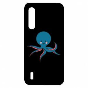 Etui na Xiaomi Mi9 Lite Cute blue octopus with a smile