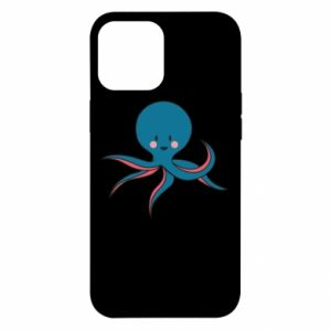 Etui na iPhone 12 Pro Max Cute blue octopus with a smile
