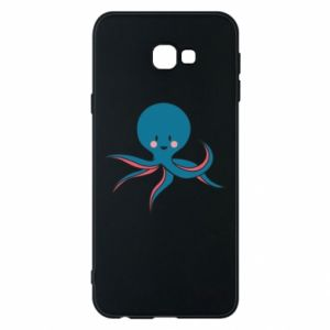 Phone case for Samsung J4 Plus 2018 Cute blue octopus with a smile - PrintSalon