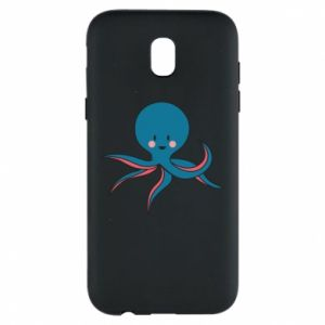 Phone case for Samsung J5 2017 Cute blue octopus with a smile - PrintSalon