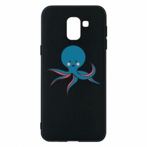 Phone case for Samsung J6 Cute blue octopus with a smile - PrintSalon