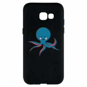 Phone case for Samsung A5 2017 Cute blue octopus with a smile - PrintSalon