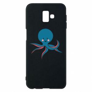 Phone case for Samsung J6 Plus 2018 Cute blue octopus with a smile - PrintSalon