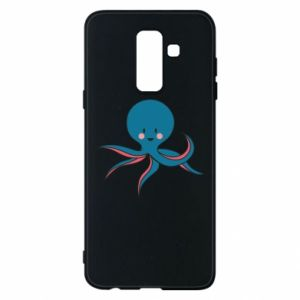 Phone case for Samsung A6+ 2018 Cute blue octopus with a smile - PrintSalon