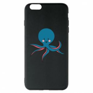 Phone case for iPhone 6 Plus/6S Plus Cute blue octopus with a smile - PrintSalon
