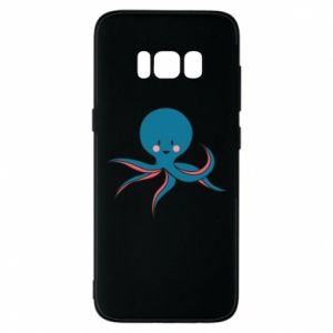 Phone case for Samsung S8 Cute blue octopus with a smile - PrintSalon