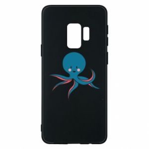 Phone case for Samsung S9 Cute blue octopus with a smile - PrintSalon