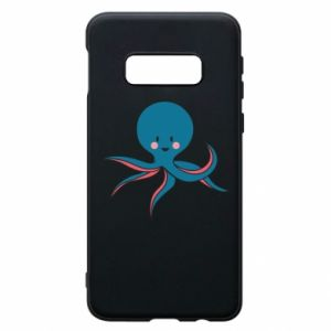 Phone case for Samsung S10e Cute blue octopus with a smile - PrintSalon