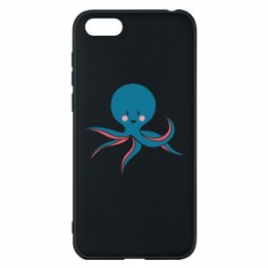 Phone case for Huawei Y5 2018 Cute blue octopus with a smile - PrintSalon