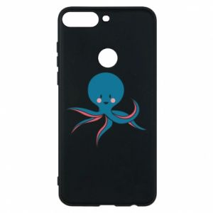 Phone case for Huawei Y7 Prime 2018 Cute blue octopus with a smile - PrintSalon